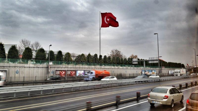 Οι άλλες διακοπές Turkiye κόκκινων σημαιών με την οικογένεια στοκ εικόνα με δικαίωμα ελεύθερης χρήσης
