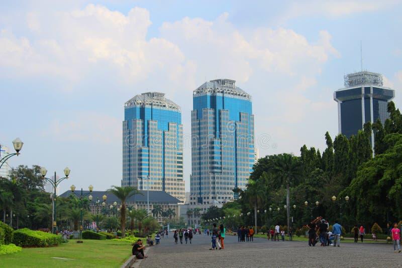 Οι δίδυμοι πύργοι της τράπεζας Ινδονησία στοκ φωτογραφίες