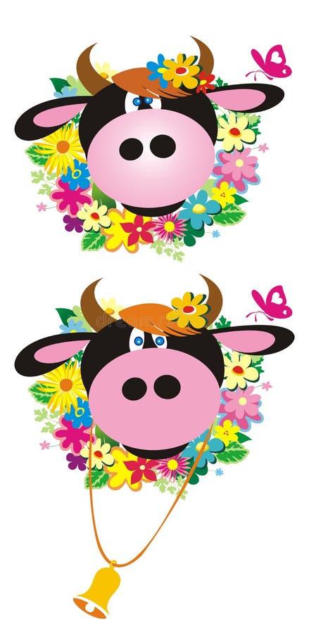 οι αγελάδες πεταλούδ&omega απεικόνιση αποθεμάτων