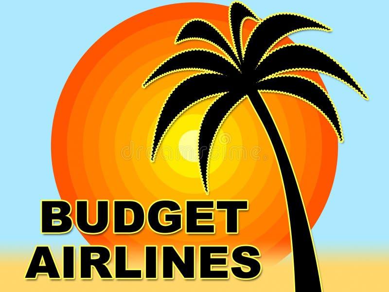 Οι αερογραμμές προϋπολογισμών δείχνουν την περικοπή - τιμή και συμφωνία ελεύθερη απεικόνιση δικαιώματος