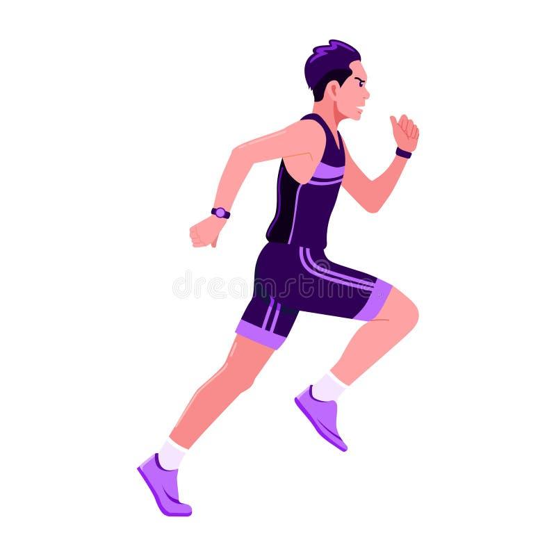 Οι αθλητικοί τύποι τρέχουν sportswear στη διανυσματική απεικόνιση στοκ φωτογραφία με δικαίωμα ελεύθερης χρήσης