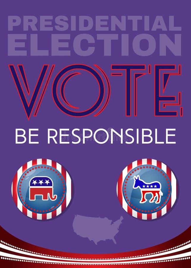 Οι αμερικανικές προεδρικές εκλογές είναι αρμόδιο έμβλημα απεικόνιση αποθεμάτων