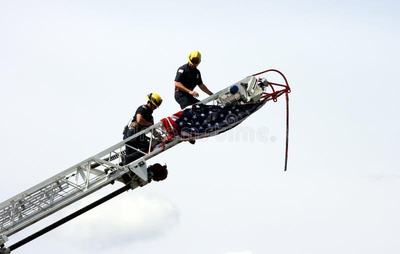 οι αμερικανικοί πυροσβέ στοκ φωτογραφίες με δικαίωμα ελεύθερης χρήσης