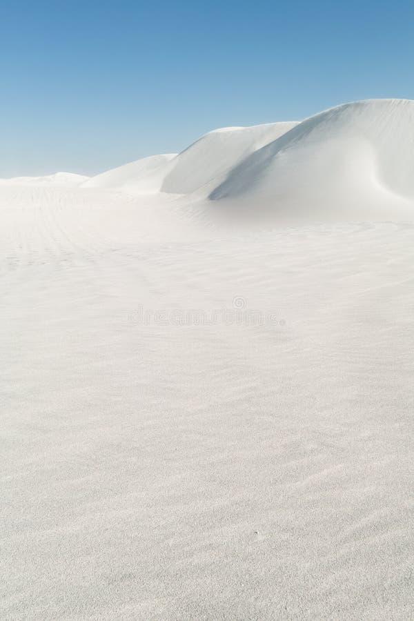 οι αμμόλοφοι στρώνουν με άμμο το λευκό στοκ φωτογραφία