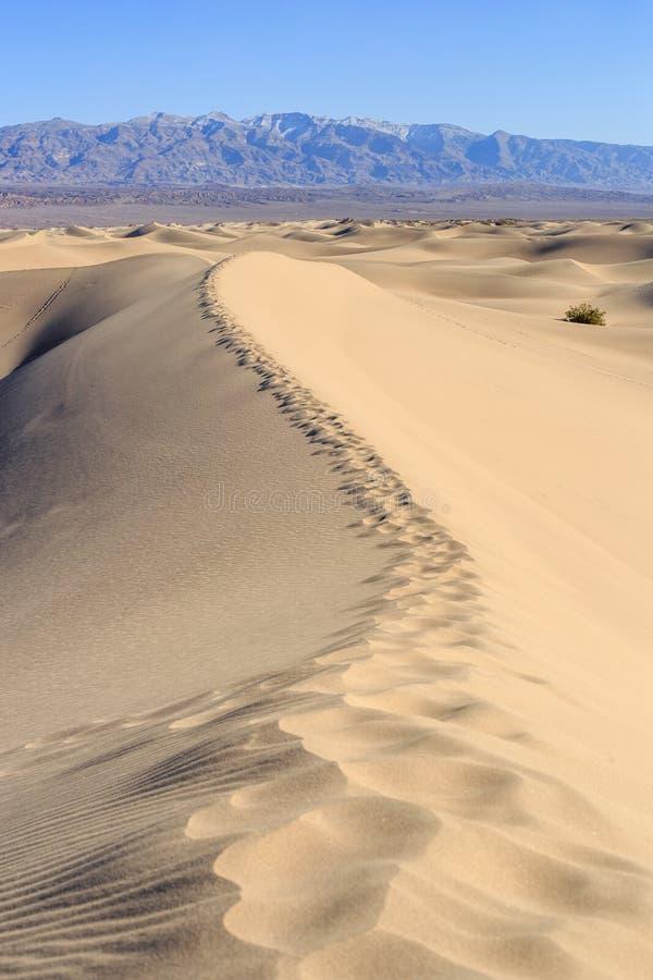 οι αμμόλοφοι θανάτου στρώνουν με άμμο την κοιλάδα στοκ φωτογραφίες