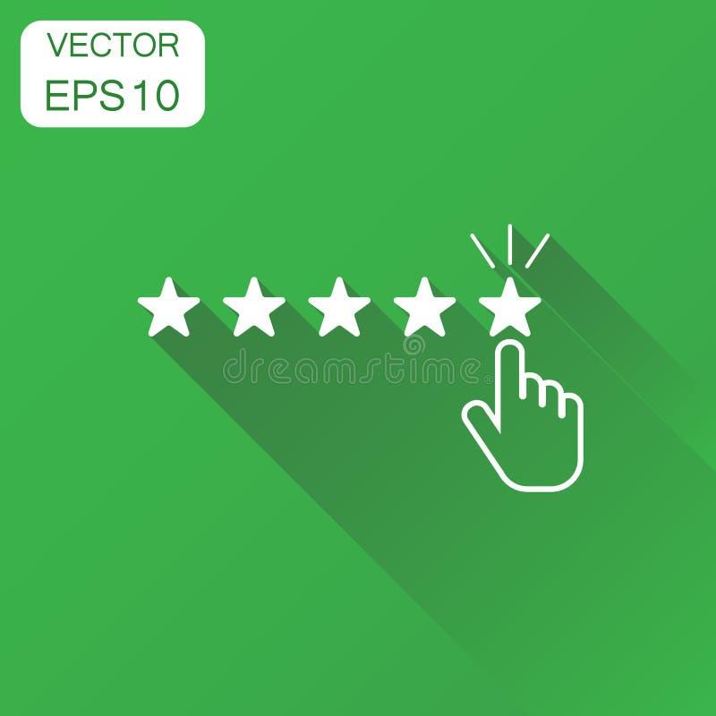 Οι αναθεωρήσεις πελατών, εκτίμηση, χρήστης ανατροφοδοτούν το εικονίδιο Επιχειρησιακή έννοια ρ ελεύθερη απεικόνιση δικαιώματος