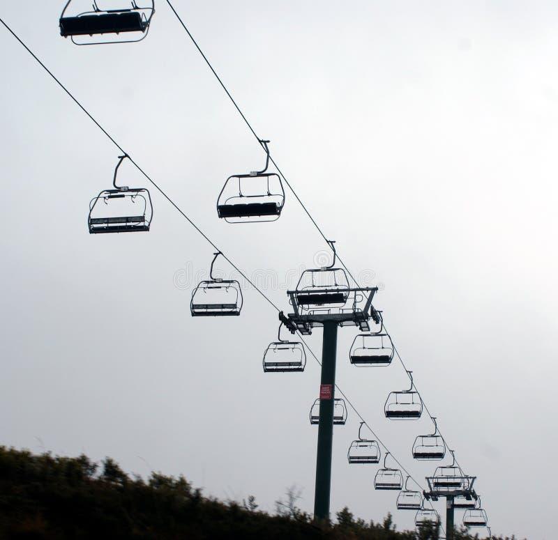 Οι ανελκυστήρες εδρών τοποθετούν Hotham στοκ εικόνα
