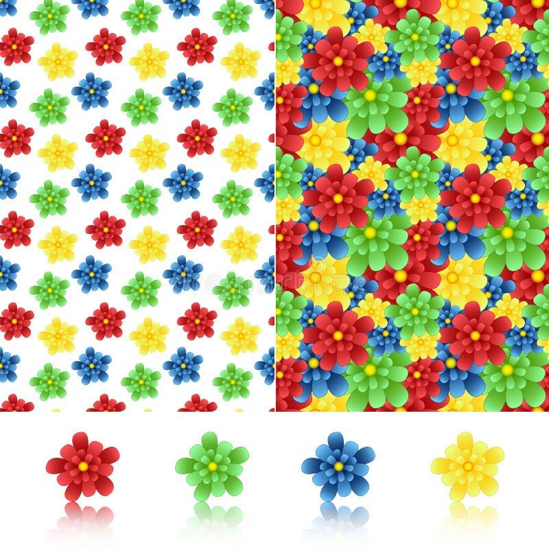 οι ανθοδέσμες υποκύπτουν άνευ ραφής μικρό προτύπων λουλουδιών αριθμού διανυσματική απεικόνιση