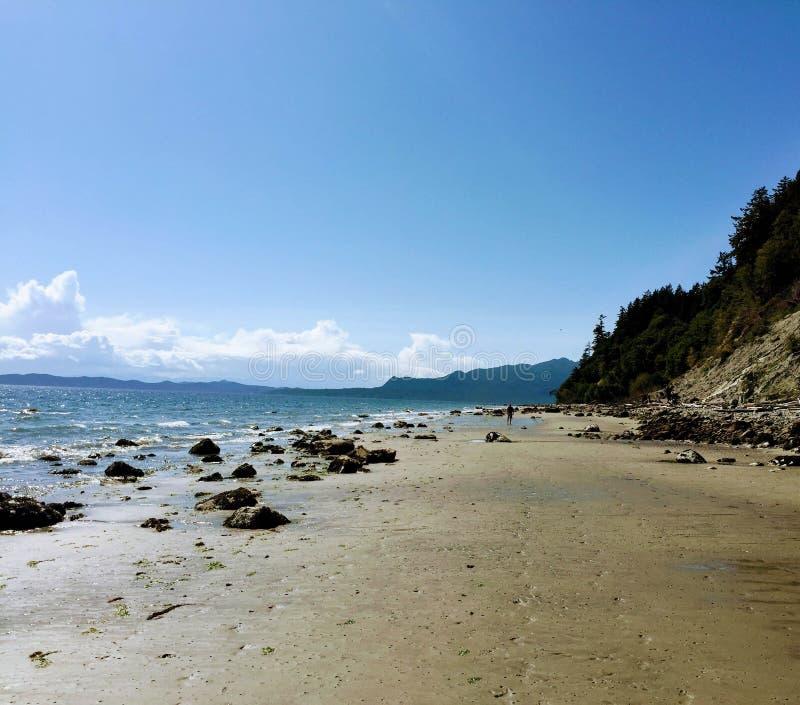 Οι απέραντες, αμμώδεις παραλίες του κόλπου πειρατών σε ένα όμορφο καλοκαίρι δ στοκ φωτογραφίες