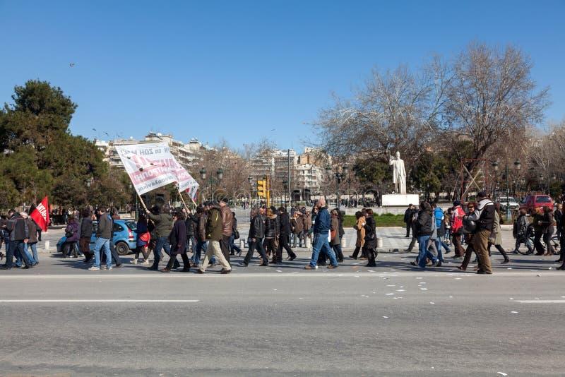 Οι απομακρυνθε'ντες δημόσιοι υπάλληλοι διαμαρτύρονται στοκ εικόνες με δικαίωμα ελεύθερης χρήσης