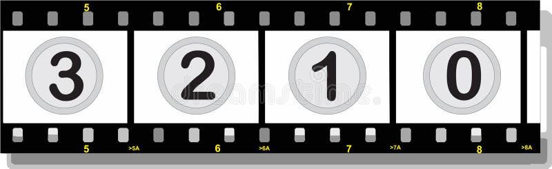 οι αριθμοί ταινιών σκιάζο&ups απεικόνιση αποθεμάτων