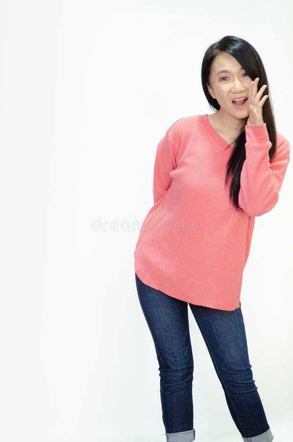 Οι ασιατικές γυναίκες χαμογελούν στοκ φωτογραφία με δικαίωμα ελεύθερης χρήσης