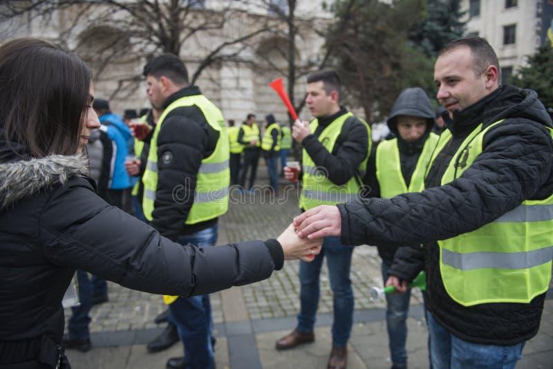 Οι αστυνομικοί διαμαρτύρονται στοκ εικόνα