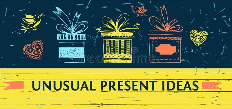 Οι ασυνήθιστες ιδέες παρουσιάζουν το κατάστημα Διανυσματικό υπόβαθρο χρώματος για τον Ιστό ελεύθερη απεικόνιση δικαιώματος