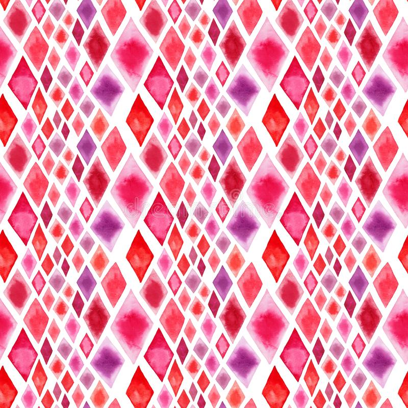 Οι αφηρημένες όμορφες θαυμάσιες διαφανείς φωτεινές κόκκινες ρόδινες διαφορετικές μορφές rhombuses λογαριάζουν την απεικόνιση χερι απεικόνιση αποθεμάτων