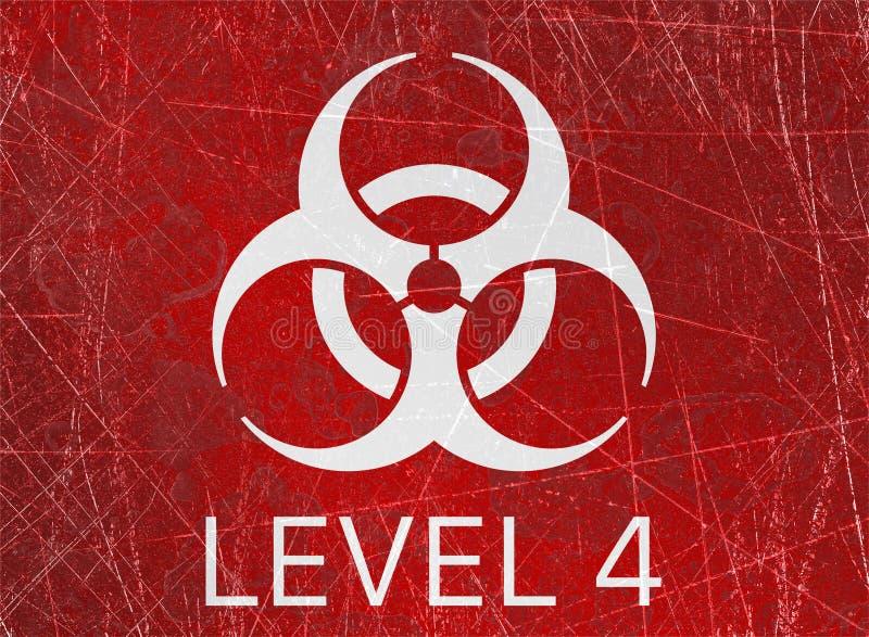 Οι βιολογικοί κίνδυνοι, biohazards, αναφέρονται στις βιολογικές ουσίες που αποτελούν απειλή για την υγεία των οργανισμών διαβίωση διανυσματική απεικόνιση