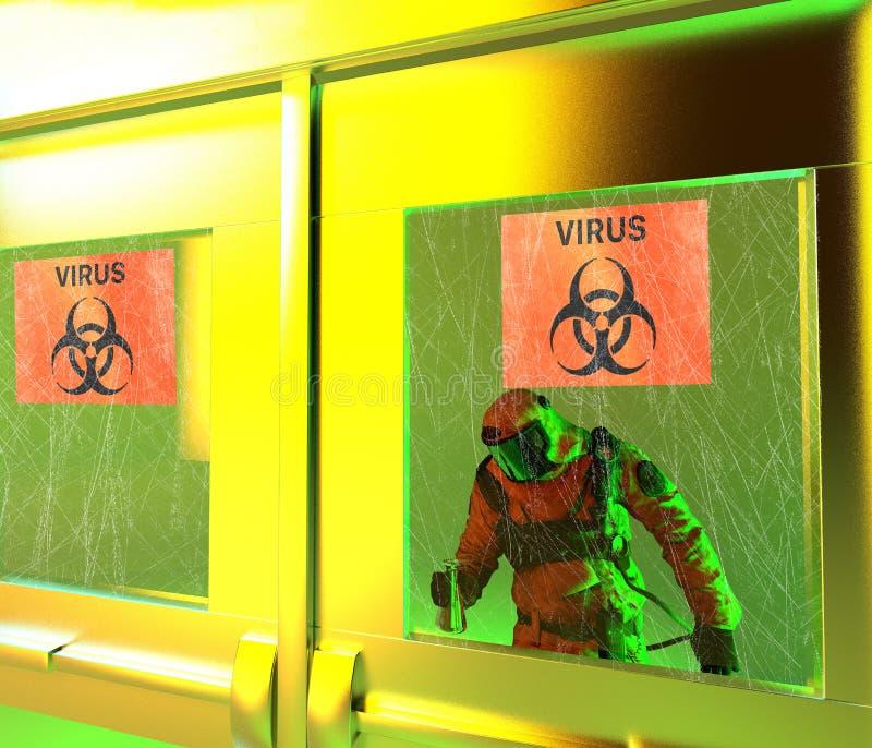 Οι βιολογικοί κίνδυνοι, biohazards, αναφέρονται στις βιολογικές ουσίες που αποτελούν απειλή για την υγεία των οργανισμών διαβίωση απεικόνιση αποθεμάτων