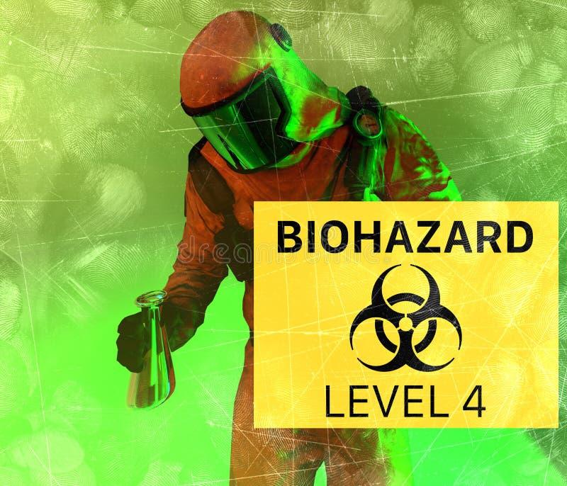 Οι βιολογικοί κίνδυνοι, biohazards, αναφέρονται στις βιολογικές ουσίες που αποτελούν απειλή για την υγεία των οργανισμών διαβίωση ελεύθερη απεικόνιση δικαιώματος