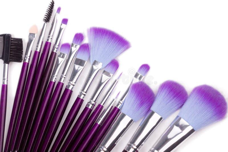 οι βούρτσες makeup θέτουν στοκ εικόνες