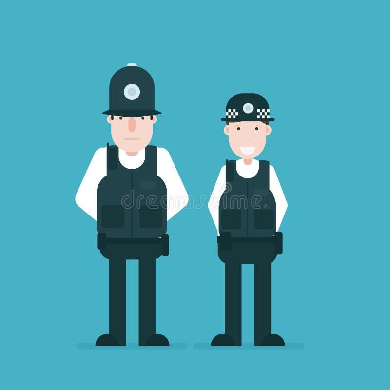 οι βρετανικοί ανώτεροι υπάλληλοι αστυνομεύουν ελεύθερη απεικόνιση δικαιώματος