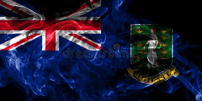 Οι βρετανικοί Παρθένοι Νήσοι καπνίζουν τη σημαία, εξαρτώμενη σημαία βρετανικών υπερπόντιων εδαφών, έδαφος της Μεγάλης Βρετανίας διανυσματική απεικόνιση