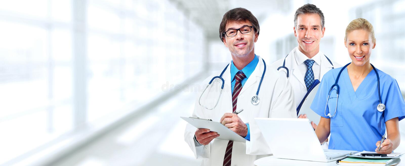 Οι γιατροί ομαδοποιούν στοκ εικόνα