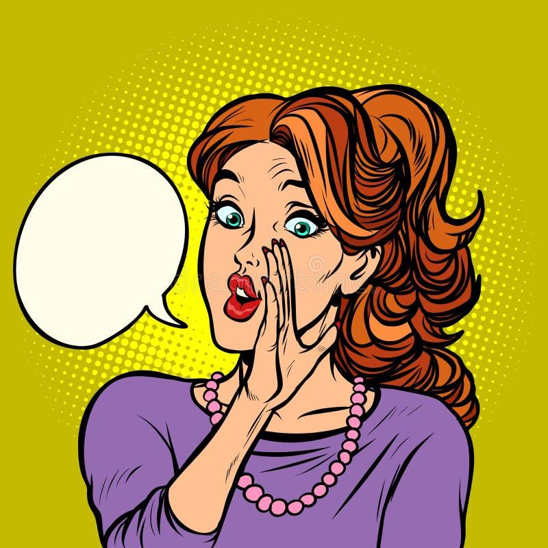 Οι γυναίκες κουτσομπολεύουν μυστική φήμη απεικόνιση αποθεμάτων