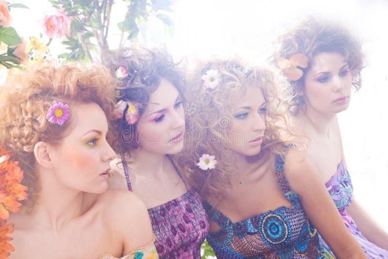 οι δασικές νύμφες λουλ&omi στοκ φωτογραφία με δικαίωμα ελεύθερης χρήσης