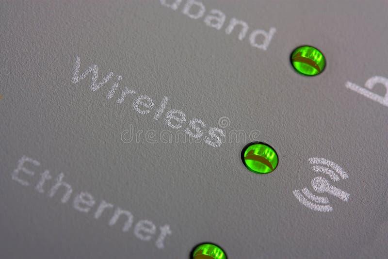 Οι δείκτες δρομολογητών Wifi κλείνουν επάνω στοκ φωτογραφία με δικαίωμα ελεύθερης χρήσης