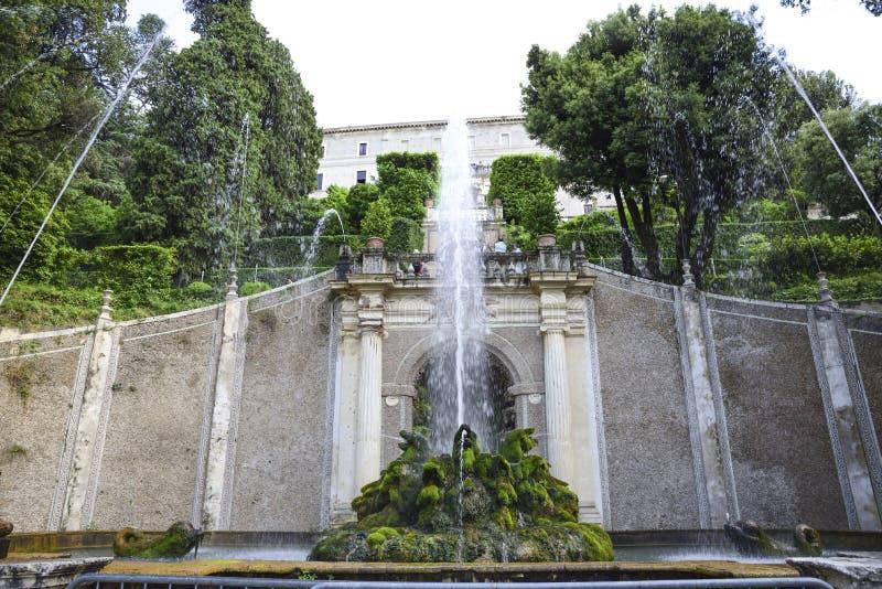Οι διάσημοι κήποι της βίλας Δ ` Este, κοντά στη Ρώμη, Ιταλία στοκ φωτογραφίες με δικαίωμα ελεύθερης χρήσης
