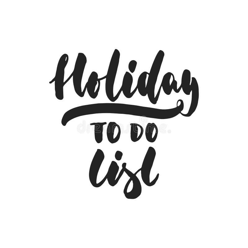 Οι διακοπές -απαριθμούν - δώστε τη συρμένη επιγραφή εγγραφής για τα Χριστούγεννα διανυσματική απεικόνιση