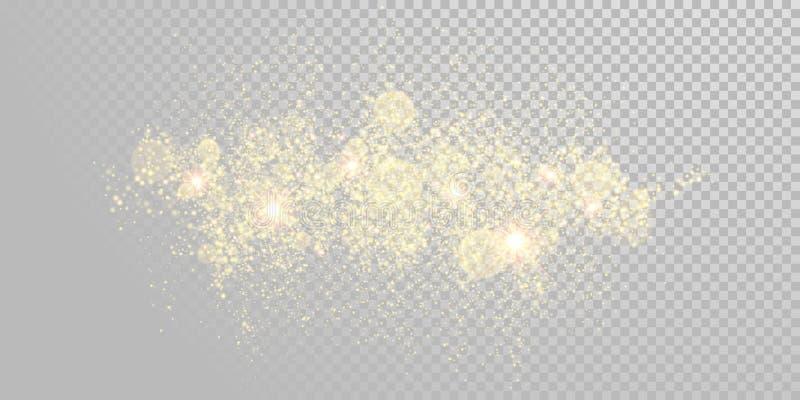 Οι διακοπές Χριστουγέννων χρυσές ακτινοβολούν πρότυπο υποβάθρου πυροτεχνημάτων των χρυσών μορίων sparkler και της λαμπρής ελαφριά απεικόνιση αποθεμάτων
