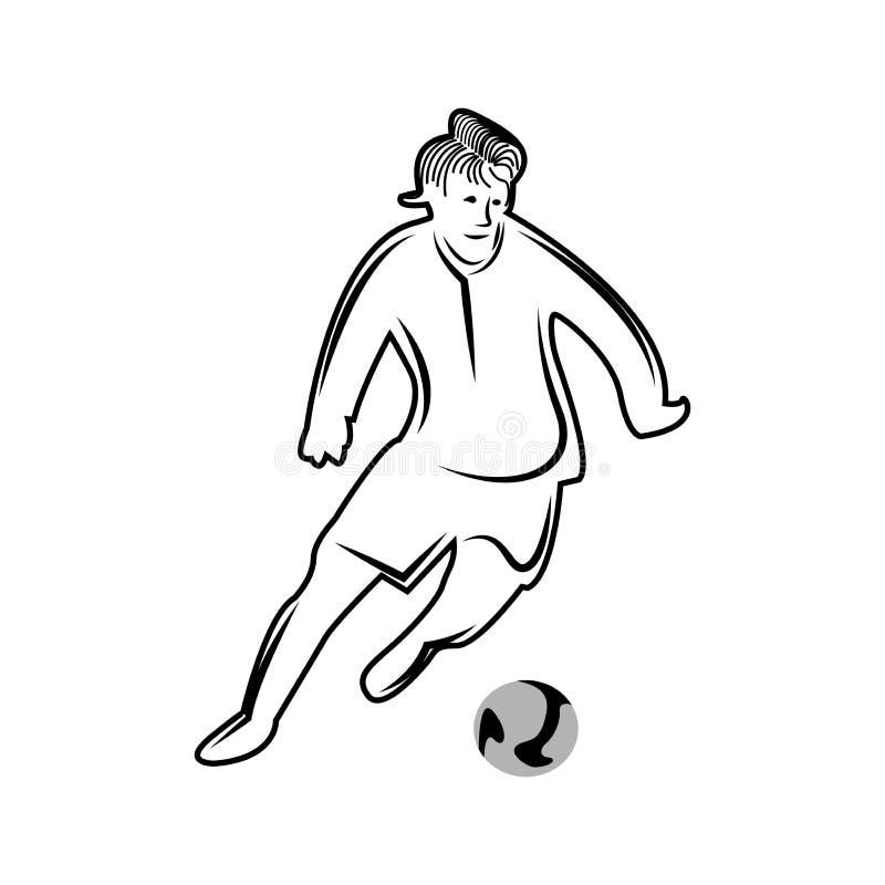 Οι διευκρινισμένοι άνθρωποι στάζουν, επίπεδα σχέδια ποδόσφαιρο φορέων σφαιρών απεικόνιση αποθεμάτων