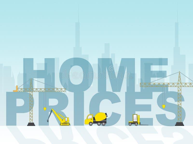 Οι εγχώριες τιμές παρουσιάζουν τα σπίτια κατοικημένα και κόστος απεικόνιση αποθεμάτων