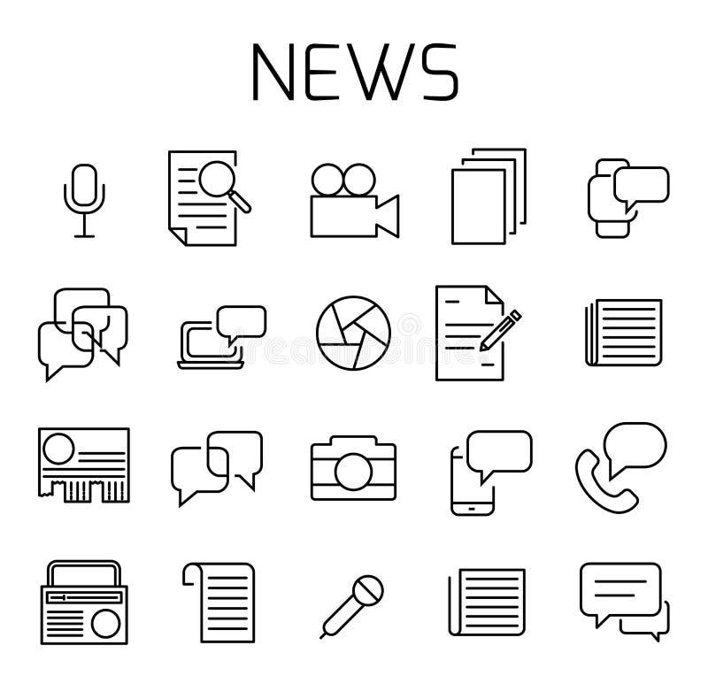 Οι ειδήσεις αφορούσαν το διανυσματικό σύνολο εικονιδίων διανυσματική απεικόνιση