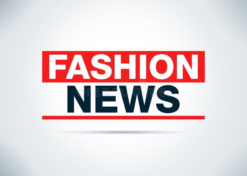 Οι ειδήσεις μόδας αφαιρούν την επίπεδη απεικόνιση σχεδίου υποβάθρου διανυσματική απεικόνιση