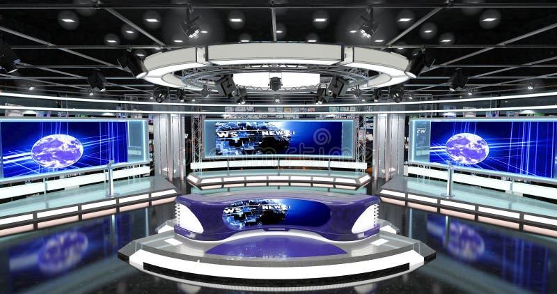 Οι εικονικές ειδήσεις TV θέτουν 1 στοκ εικόνες με δικαίωμα ελεύθερης χρήσης