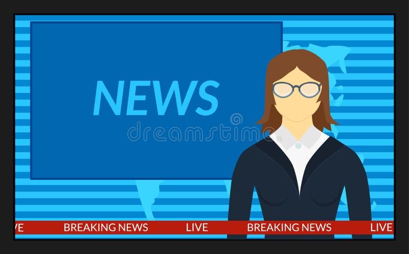 Οι ειδήσεις στη TV απεικόνιση αποθεμάτων