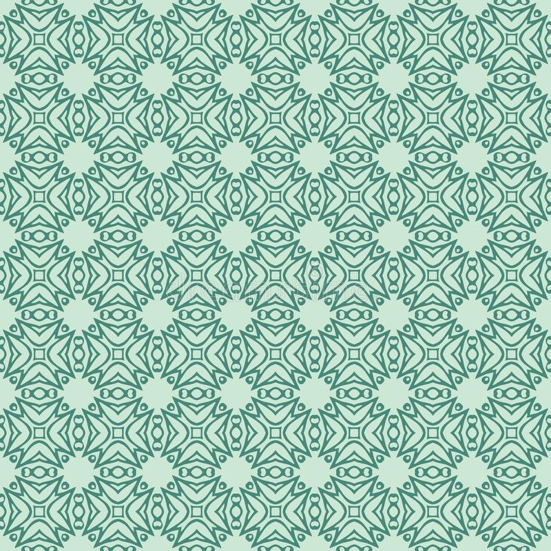 Οι εκθαμβωτικές χάντρες σχεδιάζουν το άνευ ραφής γαλαζοπράσινο χρώμα aqua απεικόνισης σχεδίων υποβάθρου διανυσματική απεικόνιση