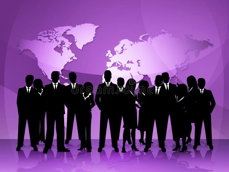 Οι επιχειρηματίες αντιπροσωπεύουν την ομαδική εργασία και τον επαγγελματία συνεδρίασης απεικόνιση αποθεμάτων