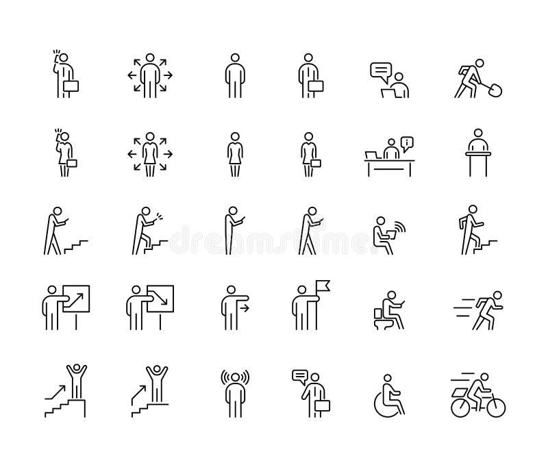 Οι επιχειρηματίες 30 εικονίδια ορίζουν μια απλή επίπεδη απεικόνιση διανυσματική απεικόνιση