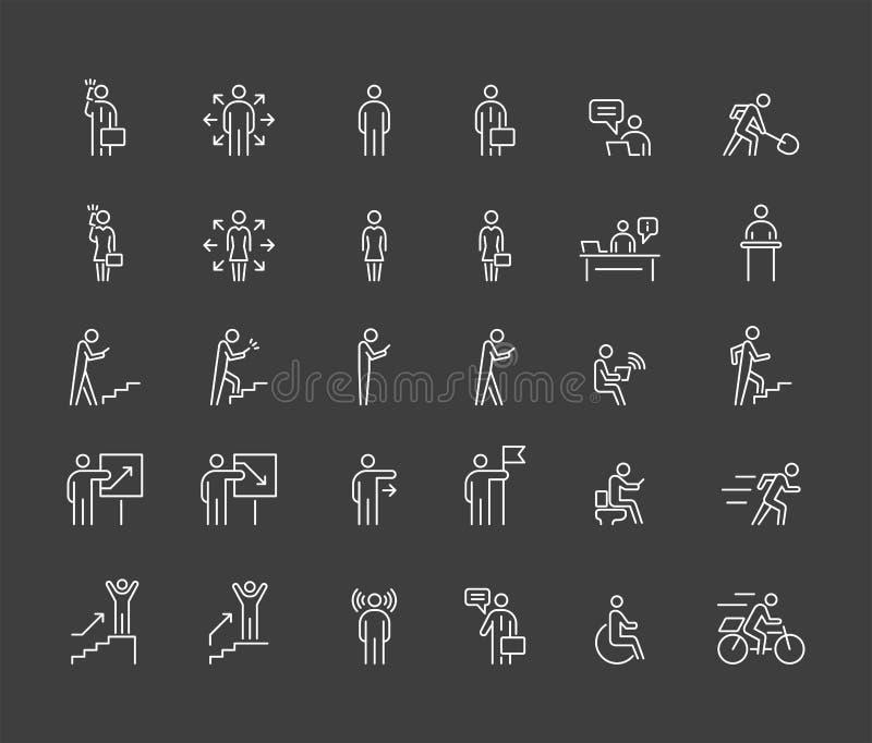Οι επιχειρηματίες 30 εικονίδια ορίζουν μια απλή επίπεδη απεικόνιση ελεύθερη απεικόνιση δικαιώματος
