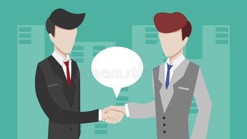 Οι επιχειρηματίες κάνουν τη συμφωνία στοκ φωτογραφία