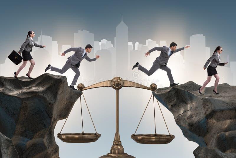 Οι επιχειρηματίες στη δίκαιη επιχειρησιακή έννοια στοκ φωτογραφία με δικαίωμα ελεύθερης χρήσης