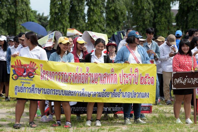 Οι ερασιτεχνικοί αθλητές από τις διαφορετικές ομάδες σε Pluak Daeng συμμετείχαν στη δραστηριότητα στοκ φωτογραφία
