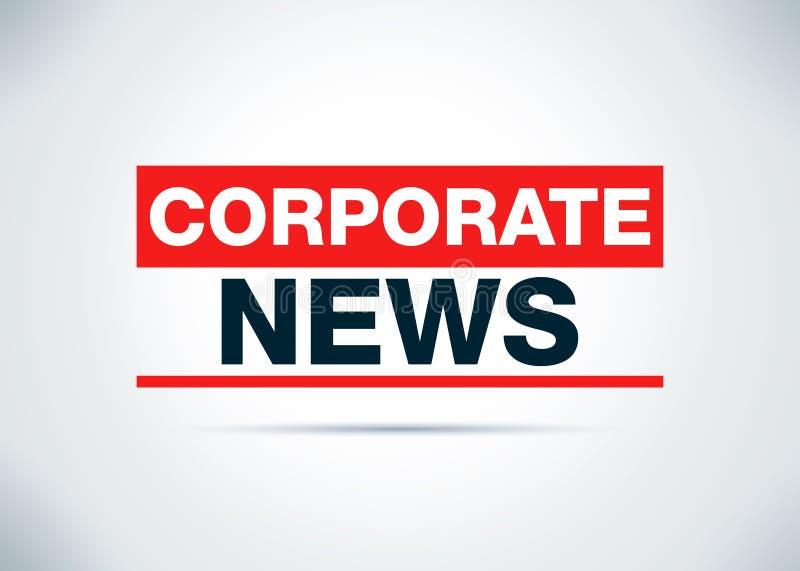 Οι εταιρικές ειδήσεις αφαιρούν την επίπεδη απεικόνιση σχεδίου υποβάθρου διανυσματική απεικόνιση