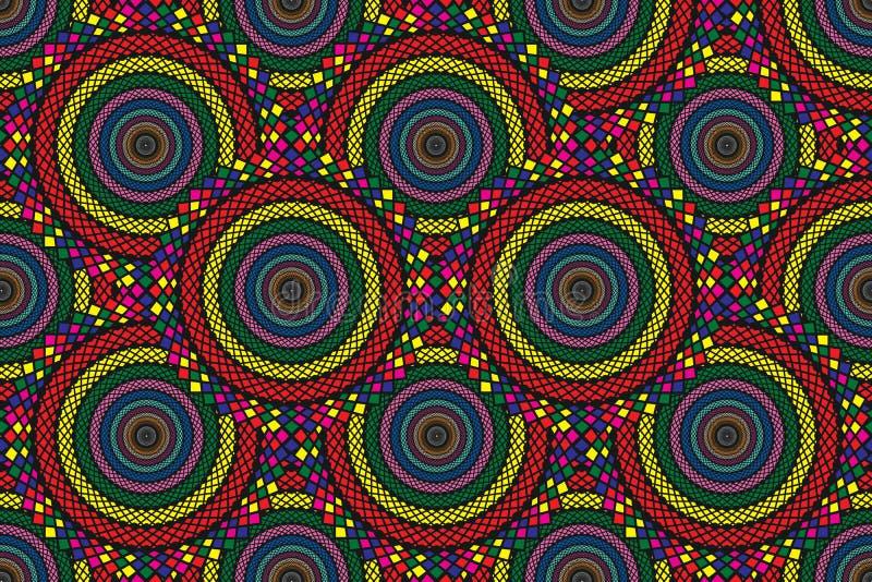 Οι ζωηρόχρωμοι κύκλοι απεικόνισης ταπετσαριών σύστασης υποβάθρου σχεδίων όπως τα φίδια ξεφλουδίζουν κόκκινο κίτρινο γαλαζοπράσινο στοκ φωτογραφία