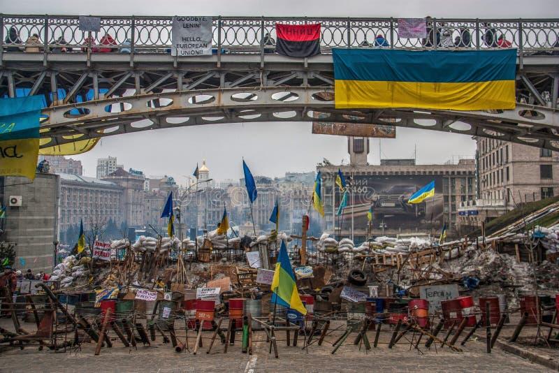 Οι ημέρες του Euromaidan διαμαρτύρονται, Κίεβο στοκ εικόνες