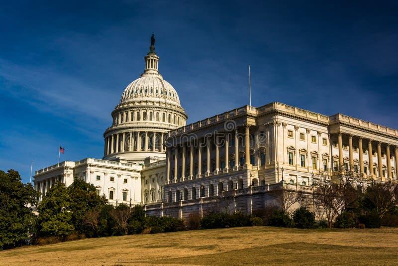 Οι Ηνωμένες Πολιτείες Capitol, Ουάσιγκτον, συνεχές ρεύμα στοκ εικόνες