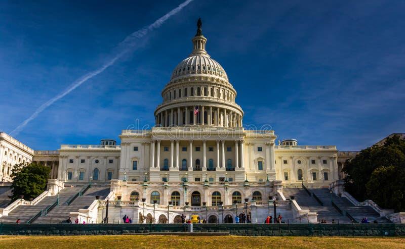 Οι Ηνωμένες Πολιτείες Capitol, Ουάσιγκτον, συνεχές ρεύμα στοκ εικόνα με δικαίωμα ελεύθερης χρήσης